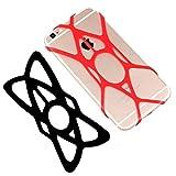 Demarkt Porte Téléphone Vélos Silicone élastique Vélo Mobile Sécurité Elastiques Moto Straps Unique Smartphone GPS D'autres Périphériques Couleur Aléatoire 2 Pcs