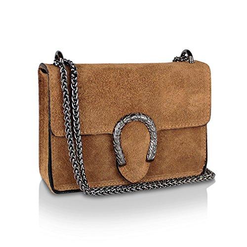 8ff91c2015a16 Gloop Damen Clutch echt Leder Tasche Abendtasche mit Kette Handtasche Made  in Italy 1.007.5