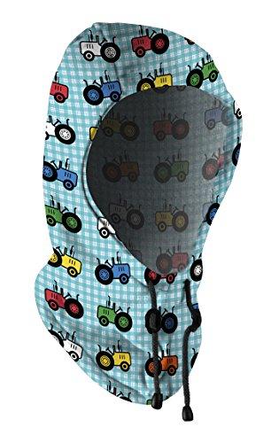 HAD CAPOT et ÉCHARPE pour ENFANTS en Toison, Polyester, taille 2-4 tracteur, bleu