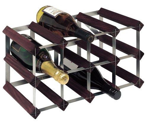 RTA From Samuel Groves Weinregal für 12 Flaschen 4x2 Fächer gebeizte Kiefer / verzinkter Stahl