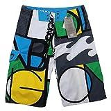 Baymate Herren Badeshorts Multi-Color Boardshorts Brief Drucken Surf-Shorts