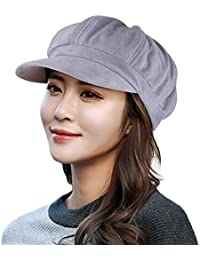 e1782287597 EINSKEY Ladies Beret Hat Winter Cloche Hat Newsboy Cap Cabbie Painter Baker  Cap Peaked Hat Fedora