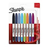 Sharpie marqueur double permanent à pointe ultrafine et pointe fine - noir Lot de 8 coleurs assorties