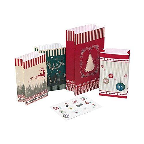 24 Adventstütchen 'Nordic': zum Befüllen