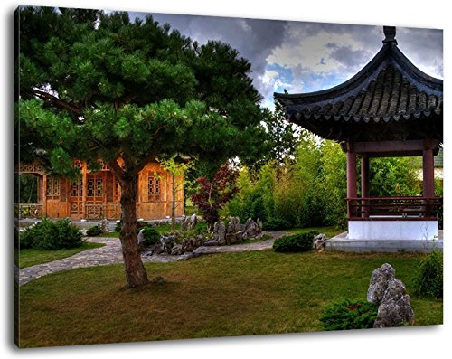 Pagoda cinese Formato: 60x40 cm Immagine infilate su tela, immagini enormi XXL completamente finito e incorniciate con barella, incorniciatura sulla foto parete con cornice, più conveniente che la pittura o l'immagine, senza manifesti o poster