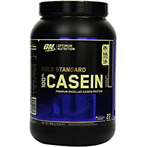 Optimum Nutrition Gold Standard Casein Eiweißpulver (mit Glutamin und Aminosäuren. Protein Shake von ON)