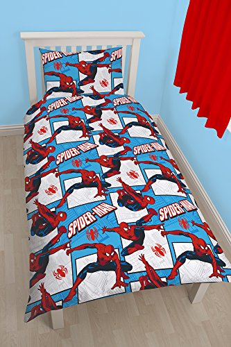 "Image of Character World Single Disney ""Spiderman Ultimate Parker"" Rotary Duvet Set, Multi-Colour"