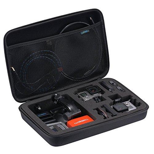 Luxebell® Tragbar Stoßfest Groß Größe Spielraum-Speicher Schutztragetasche Tasche für GoPro Hero 4 Hero 3+ Hero 3 Hero 2 Kamera-Zubehör