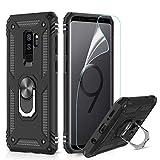 LeYi Coque Galaxy S9 Plus avec Anneau Support, Double Couche Renforcée Défense...