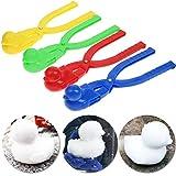 REYOK Clip de Bola de Nieve en Forma de Pato Clip 4 Piezas Niños Bolas de Nieve al Aire Libre Lanzador al Aire Libre Winter Snowball Maker Toys-Rojo, Azul, Amarillo, Verde