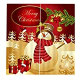 Backbayia Weihnachts Christams Thema Vorhänge Vorhang Schleierstoff Türgardine Türvorhang Fenster Gardine Wohnzimmer Deko