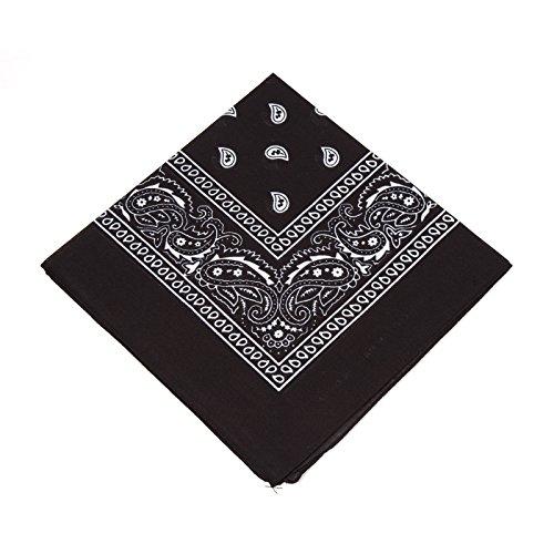 Boolavard TM Ursprüngliche Bandanas 100% Baumwolle (Black) -