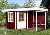 weka Designhaus 213 A Gr.1, 5-Eck, schwedenrot, 28 mm, ET, F, Anbau 150 cm
