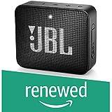 (Renewed) JBL Go 2 Portable Waterproof Bluetooth Speaker with mic (Black)