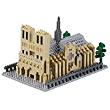 Brixies 410168 - Kathedrale Notre-Dame, 3D-Puzzle, France Edition, 928 Teile, Schwierigkeitsstufe 5 für Experten, mehrfarbig