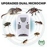 #1: Adtala Pest Control Ultrasonic Pest Repeller, Electronic Plug in Repellent Indoor for Insects, Mosquitoes, Mice, Spiders, Ants, Rats, Roaches, Non-Toxic, Humans & Pets Safe