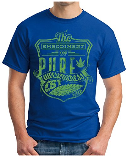 OM3 - PURE-KUSH - T-Shirt GEEK, S - 5XL Royalblau