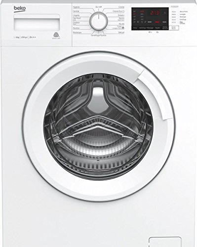 Beko WTXS 61032 W Freestanding Front-load 6kg 1000RPM A+++ White washing machine - Washing Machines (Freestanding, Front-load, White, Buttons, Rotary, Left, LED)