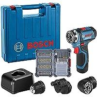 Bosch Professional Sistema 12V Trapano Avvitatore Gsr 12V-15 Fc, Batteria 1X2.0 Ah, Caricatore Gal 12V-20, 3X Attacchi…