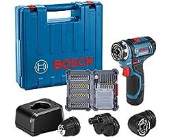 Bosch Professional 12V System accuschroefboormachine GSR 12V-15 FC (incl. 1x2,0 Ah accu, snellader GAL 12V-20, 3x boorhoudero
