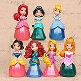 Princesas Disney - set 7- figuras-con bolsa de plastica- 7 cm