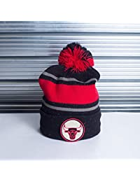 Bonnet Mitchell And Ness Speckled KN40Z Bulls Noir / Rouge