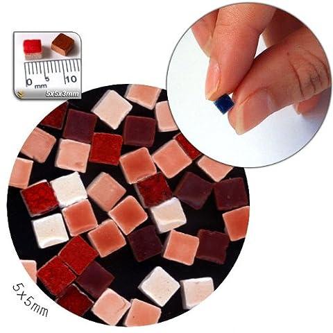 Mosaic-Minis (5x5x3mm), 250 pieces, mix red, MXRG
