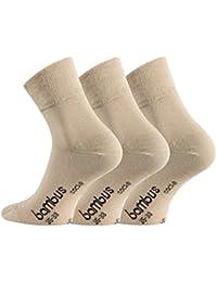 WOWERAT 6 Paar seidenweiche Bambus-Kurzschaft-Socken