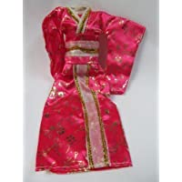 Totally Unique Pink Japanese Kimono Barbie Sindy Toy Doll Geisha Outfit Dress - Posted from London By Fat-Catz