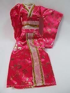 Kimono Japonais Poupée Barbie Totalement Unique Rose Sindy Geisha - par Fat-Catz