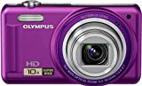 Olympus VR-310 Digitalkamera (14 Megapixel, 10-fach opt. Zoom, 7,6 cm (3 Zoll) Display, bildstabilisiert) violett