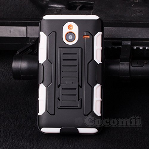 Nokia Lumia 640 XL Hülle, Cocomii Robot Armor NEW [Heavy Duty] Premium Belt Clip Holster Kickstand Shockproof Hard Bumper Shell [Military Defender] Full Body Dual Layer Rugged Cover Case Schutzhülle Nokia (White)