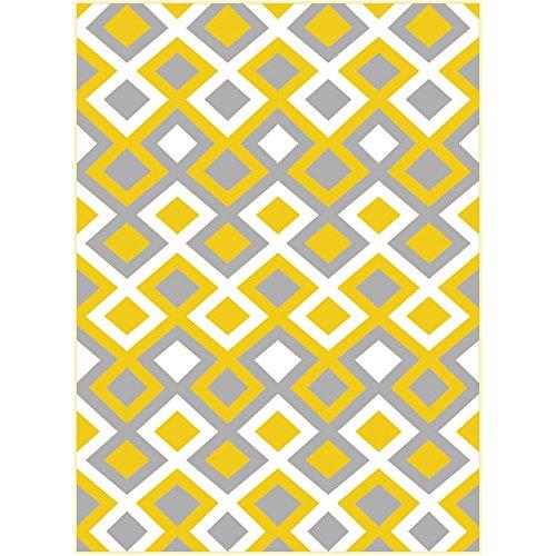 Sundian im nordischen Stil, Geometrie, Kreativität, Familie Wohnzimmer, Schlafzimmer, Flur, Moderne Thin und waschbar Teppich, 180 cm x 270 cm, Farbe Collage C