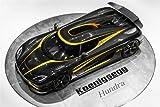 Classic und Muscle Car-Anzeigen und Auto Art Koenigsegg Agera S Hundra Auto Art Poster Kunstdruck auf 10mil Archivierung Satin Papier schwarz Top View, Papier, Black Top View, 91 x 61 cm (36 x 24 Zoll)
