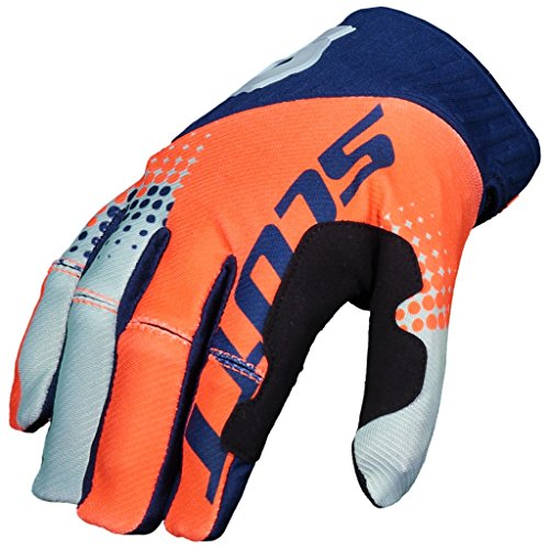 SCOTT 450 Angled Handschuhe Motocross Enduro Downhill MTB ATV MX SX Handschuhe Navy Orange (L)