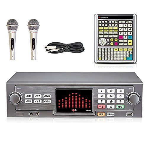 TJ taijin Media tkr-304 K 365hk Home Party Korea Korean Karaoke Singing Machine 500 GB HDD System/Follow Up-TKR 2 Wired Microphone + Professional Remote Controller (TIR-304K) 2 Wired Remote