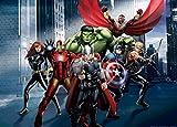1art1 77972 The Avengers - Thor, Hulk, Iron Man Vereint, 1-Teilig Fototapete Poster-Tapete 160 x 115 cm