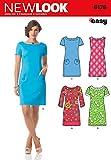 Simplicity 6176UK-Größe A 8/10/12/14/16/18 (34-48) Kleid mit Ärmeln für junge Frauen, New-Look-Schnittmuster