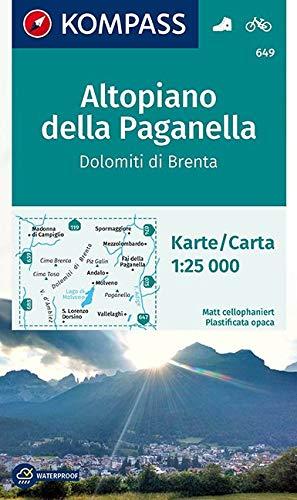 Carta escursionistica n. 649. Altopiano della Paganella, Dolomiti di Brenta 1:25.000: Wandelkaart 1:25 000