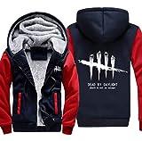qingning Herren Sweatshirt Dead by Day Pullover Mantel Reißverschluss Kapuzenpullover Cosplay Kostüm FlaumJacke Geschenk