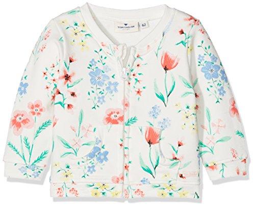 TOM TAILOR Kids Baby-Mädchen Sweatjacke Sweatjackets, Weiß (Gardenia White 2069), 74