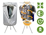 Collapsible Round Portable Clothes Dryer - Mini Electric Clothing Dryer that Dries 10KG of Clothes Within 30 Minutes