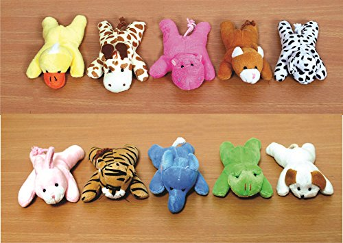 Skylofts Cute Imported 13cm Animal Soft Toys Fridge Magnets- Soft Toys for Boys & Girls (Pack of 4)