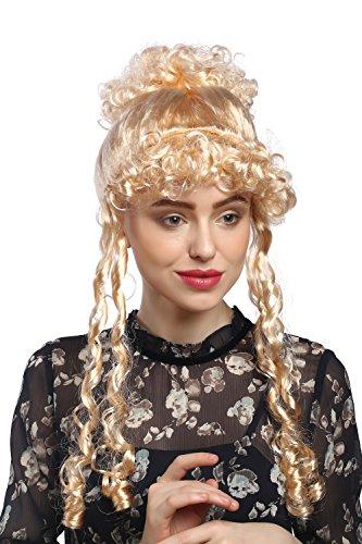 Perücke Dame Karneval Fasching Historisch Biedermeier Romantik Renaissance Barock Blond Helles Goldblond (Blonde Renaissance Perücke Kostüme)