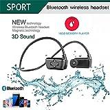 Ipx8 Waterproof Sports Underwater Cuffie Bluetooth Auricolari 16 GB Wearable MP3 Player per il nuoto