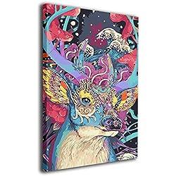 Pintura decorativa de fractales en la naturaleza. Preciosa ilustración que llenará de paz cualquier espacio.