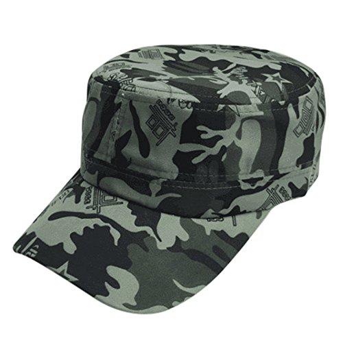 Baseball Caps,OYSOHE Neueste Männer Frauen Tarnung Outdoor Klettern Baseballmütze Hip Hop Dance Hut Kappe (Einheitsgröße, Grün) ()