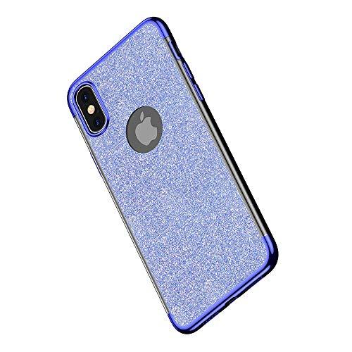 Miagon 2-1 Glitzer Hülle für {iPhone XS Max},Luxus Glitzer Bling Überzug Hülle Handyhülle Slim Case Schale Leicht Dünn Schutzhülle Glänzendes