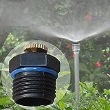 Bluelover 1/2 Zoll einstellbar Messing Spray Düse Garten Bewässerung Mikro Sprinkler