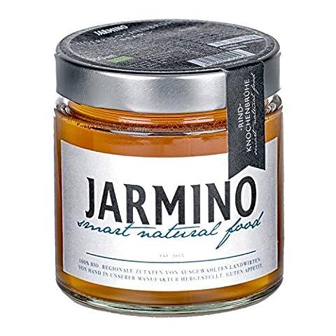 JARMINO Bone broth soupe / bouillon d'os de boeuf / acide hyaluronique, collagène et protéine naturelle / bio (12 x 350